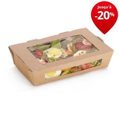 Boîte alimentaire carton avec fenêtre en PLA DUNI