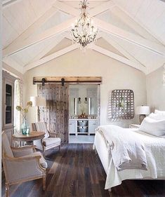 Getting inspiration for my master suites vaulted ceiling! I just love how the vault is clad in wood yet still looks polished.        #homedesigns #bedroomdesign #homedecorations #interiordesignideas #designlovers #interiorstylist #interiorideas #inspohome #homedecorlovers #interiorwarrior #interiordecoration #interiorforyou #photoofthedays #architecturelover #dreamhouse #designing #amoureux #remodeling #bellevie #farmhousedecor #molding #frenchblogger #parisianstyle #glamourous #parisianlife…