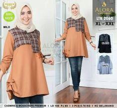 Konveksi Tunik Murah LTK2060 - konveksi baju Murah Tanah Abang.  Iriskomalawati · grosir baju hijab cd9a9029c0