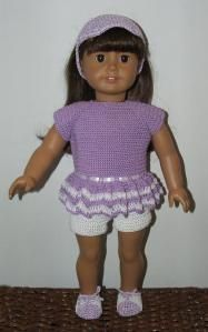 crochet top and shorts set for american girl doll (free pattern)