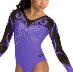 GK Elite Purple Swirls Competition Leotard - Celebrities who wear ...