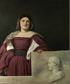Titian, Portrait of a Woman ('La Schiavona'), c. 1510–12. Oil on canvas. 119.4 x 96.5 cm. The National Gallery, London. Presented through The Art Fund by Sir Francis Cook, Bt., in memory of his father, Sir Herbert Cook, Bt., 1942. Photo © The National Gallery, London.
