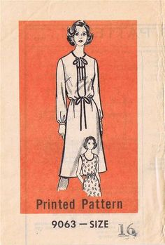 1960s mail order pattern size 16 Dress