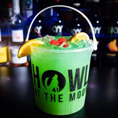 Check out Howl at the Moon's drinks selections. Looking to book a party? We can host all types of parties and events: bachelor parties, bachelorette parties, corporate events, holiday parties, birthday parties and more. Party Drinks Alcohol, Drinks Alcohol Recipes, Alcoholic Drinks, Cocktail Recipes, Drink Recipes, Beverages, Cocktails, Beach Drinks, Summer Drinks