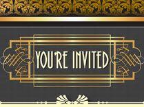 1920s Party invitations design