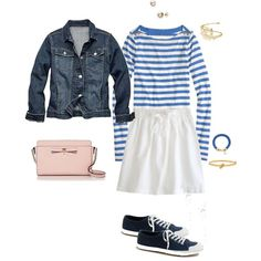 """Light pink & bright blue"" by maomi on Polyvore"
