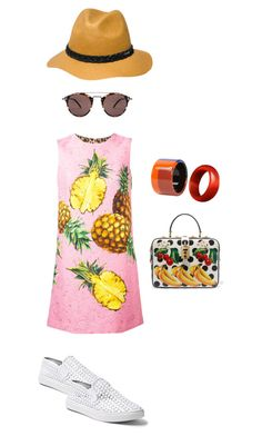 frutas by camilamairams-1 on Polyvore featuring moda, Dolce&Gabbana, Steve Madden, Hermès, RVCA and Oliver Peoples