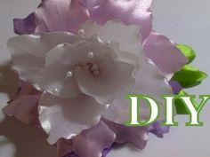 Цветок канзаши flower kanzashi - лилия на резинке