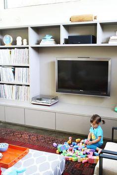 I like the tv unit & storage below window