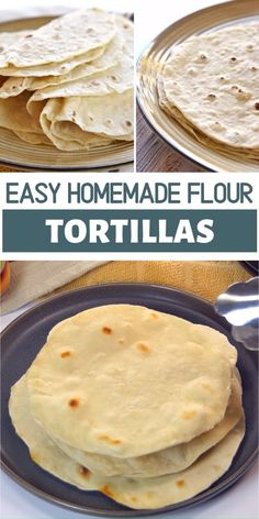 Soft, tender Homemade Flour Tortillas are deliciously versatile and a surprisingly easy recipe with just five simple ingredients! Soft Tortilla Recipe, Tortilla Bread, Tortilla Wraps, Flour Tortilla Recipe Without Lard, Flower Tortilla Recipe, Soft Taco Shell Recipe, Mexican Tortilla Recipe, Homemade Mexican Flour Tortillas, Recipes With Flour Tortillas