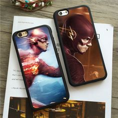 Super Heroes The Flash Silicone Cover Case For Apple Iphone 5C 5S 6/6S 7 Plus