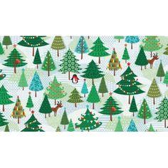 Sale 100/% Cotton Fabric Nutex Gift Giving Santa Claus Christmas Festive Xmas