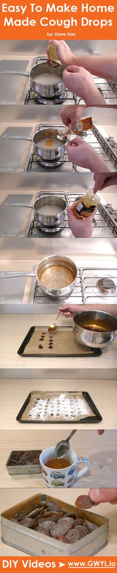 This is by far one of the best homemade cough and flu remedy we've seen. Watch and see full written instructions on how to make these cough drops here: http://gwyl.io/easy-make-home-made-cough-drops/