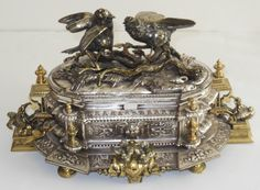 Exceptionally Rare19th Century Napoleon III era French Jewelry Casket, made by Jean-Pierre-Alexandre Tahan, circa 1849 - 1867