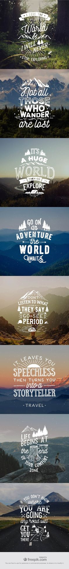 8 Hand Lettered Travel Quotes for Premium Members