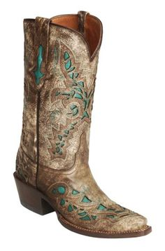 Lucchese Handcrafted 1883 Desert Plato Turquoise Inlay Cowgirl Boots - Snip Toe available at #Sheplers