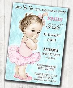 Ballerina Birthday Ballerina Invitation  First by jjMcBean on Etsy, $20.00