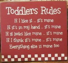 So true - my toddler owns everything.