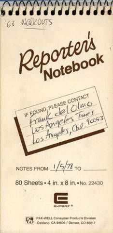 Reporter's notebook :: Latino Archives