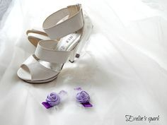 Bridal shoe clips, Purple shoe clips, Wedding roses  www.etsy.com/shop/BridesbyEve
