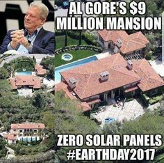 Libtards' 'hero' Al Gore. What a hypocrite. Liberal Hypocrisy, Liberal Logic, Stupid Liberals, Socialism, Politicians, Al Gore, Out Of Touch, Conservative Politics, Stupid People
