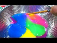 DIY How To Make 'Glitter Rainbow Slime Crystal Cup' Recipe 크리스탈 반짝이 무지개 액체괴물 만들기!! 액괴 점토 슬라임 - YouTube