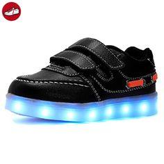 [Present:kleines Handtuch]Schwarz EU 43, Leuchtend für Sneaker Schuhe 7 JUNGLEST® Herren Farbwechsel Sport Hoch Aufladen High-top weise LED Tu