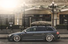 Justin McLean's #Audi B7 A4 Sline Avant on Bagriders suspension and BBS LM wheels.