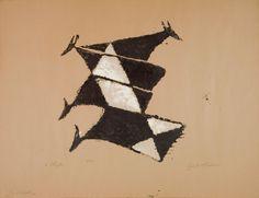 Vier Kühe (Herbst) - holzschnitt 1952 (?) - Ewald Wilhelm Hubert Mataré, 1887-1965 Deutschland Les Oeuvres, Flag, Museum, Animals, Art, Woodblock Print, Autumn, Germany, Art Background
