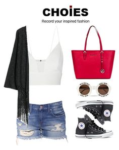 """#235"" by fede-profile ❤ liked on Polyvore featuring Narciso Rodriguez, Wildfox, MANGO, Converse and MICHAEL Michael Kors"