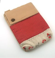 A sweet, handmade quilted iPad pouch