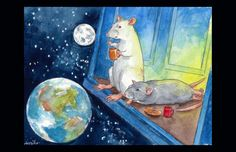 The View from the Tardis by Drusilla on Etsy, $3.00