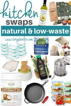 Non-toxic kitchen swaps // how to reduce plastic in your kitchen // plastic free kitchen // low waste kitchen // zero waste kitchen // healthy kitchen products // wedding registry kitchen essentials // HOW TO REDUCE TOXINS IN YOUR KITCHEN // SUSTAINABLE & TOXIN FREE KITCHEN - Tory Stender