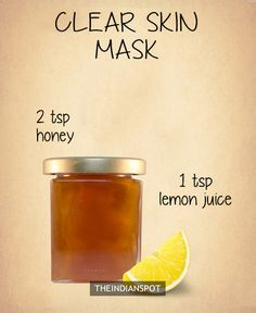 Honey for clear skin -
