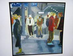 ZURICH MAIN TRAINSTATION Zurich, Train Station, Maine, Painting, Art, Art Background, Painting Art, Kunst, Paintings