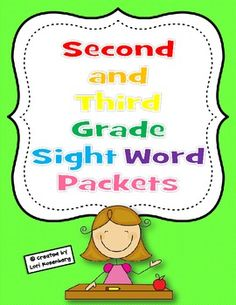Help ensure reading and writing success with these 15 reproducible sight word packets that teach the second grade Dolch words plus most of the thir...