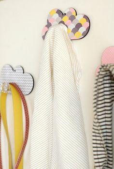Set of Three Cloud Wall Hooks -  Nursery Wall  Decorative Hanger Children Room Home Décor
