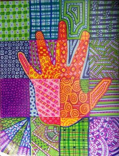 The Lost Sock : Art Elements using Hands