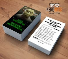 Dont be a jagoff business card bad parking business cards bad parking yoda cards stack of 50 funny parking card star wars inspired novelty colourmoves
