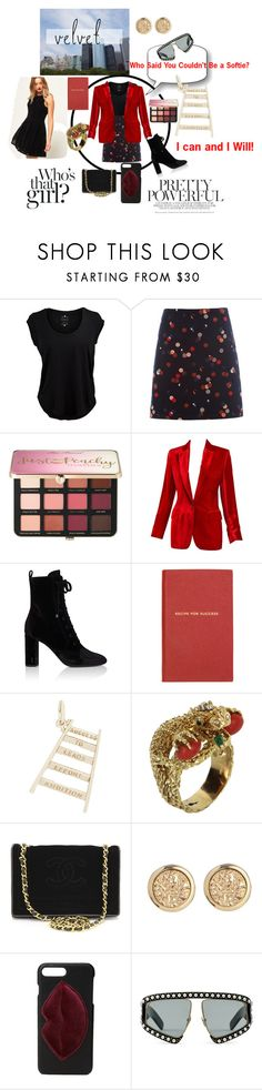 """How to Succeed in Velvet!"" by sallytcrosswell on Polyvore featuring Velvet by Graham & Spencer, White Stuff, Sephora Collection, Gucci, Yves Saint Laurent, Smythson, Rembrandt Charms, Vintage, Chanel and Kendall + Kylie"
