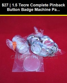 "3/"" inch Tecre Complete Pinback Buttons Badge Machine Parts Set 100 pcs from USA"