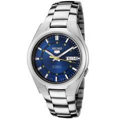 Seiko - SNK615K1 - 5 - Montre Homme - Automatique Analogique - Cadran Bleu - Bracelet Acier Gris, http://www.amazon.fr/dp/B000NM0REE/ref=cm_sw_r_pi_awdl_3Wbnvb1Z91STS