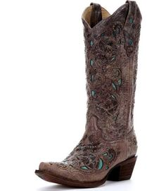 turquoise and brown cowboy boots - Google Search