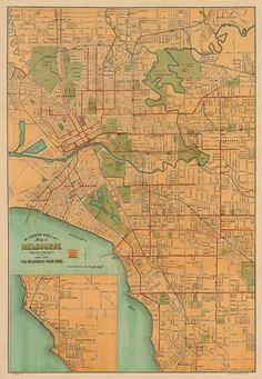 Old map of Melbourne circa 1915 #vintage #map #maps #anekdotique.com