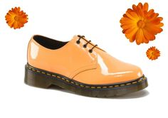 Spring shoes in bloom: Dr Martens 1461 in Acid Orange #shoes #spring #flower #drmarten #orange