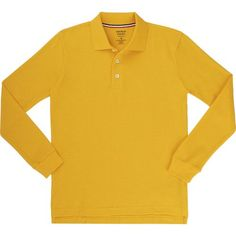 French Toast Boys' Long Sleeve Pique Polo Shirt (Gold, Size Large) - School Uniforms, Boy's Uniform Tops at Academy Sports