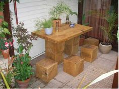 Garden Furniture Made From Sleepers railway sleepers | rr-tie | pinterest | railway sleepers, railway