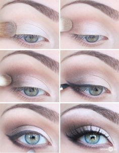 I wish I could do this... I've tried so many times, but it never comes out as the picture): Cat Eye Makeup, Eye Makeup Tips, Eye Makeup Images, Applying Eye Makeup, Blue Eye Makeup, Natural Eye Makeup, Beautiful Eye Makeup, Smokey Eye Makeup, Natural Makeup For Blondes