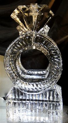 Diamond Ring Drink Luge...ice sculpture
