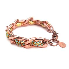 Rose Gold Bracelet Turquoise, 64€, now featured on Fab.